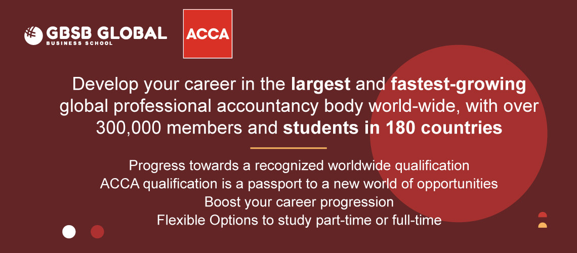 Develop your career in with GBSB Global the ACCA provider in Spain