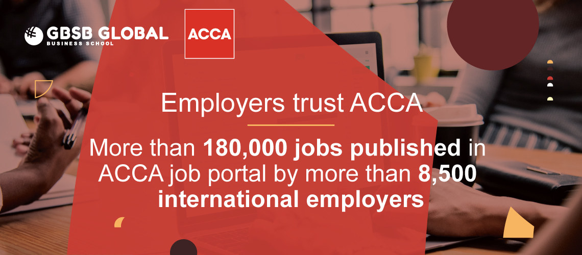 Employers trust in ACCA tuition provider in Spain with 180,000 jobs published in ACCA job portal