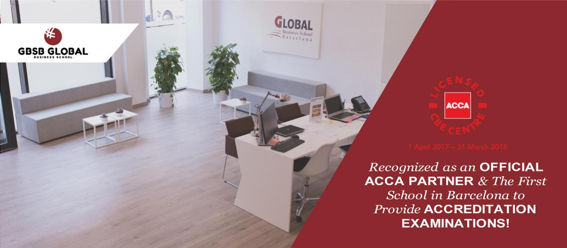 GBSB Global is the first business school in Barcelona with programs aligned to ACCA specifications