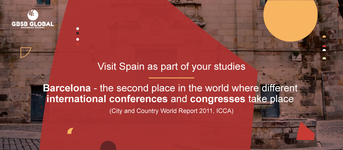 Visit Barcelona as part of your studies:  second place in world international conferences