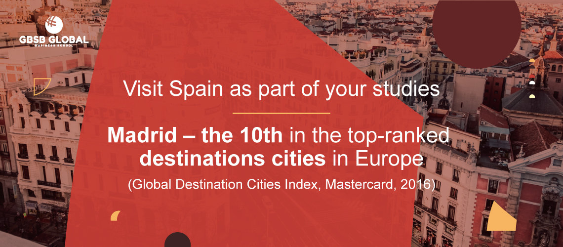 Visit Madrid – the 10th in the top-ranked destinations cities in Europe