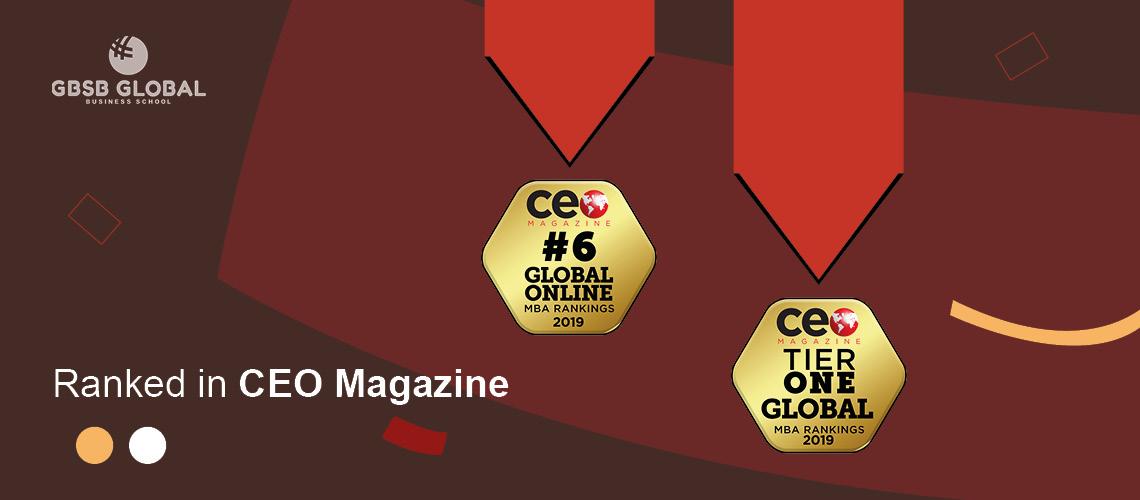 MBA in Entrepreneurship ranked by CEO Magazine in 2019