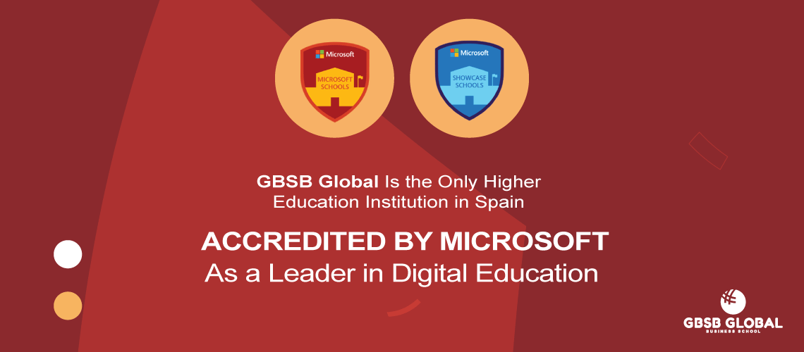 GBSB Global is the only higher education institution in Spain accredited by Microsoft