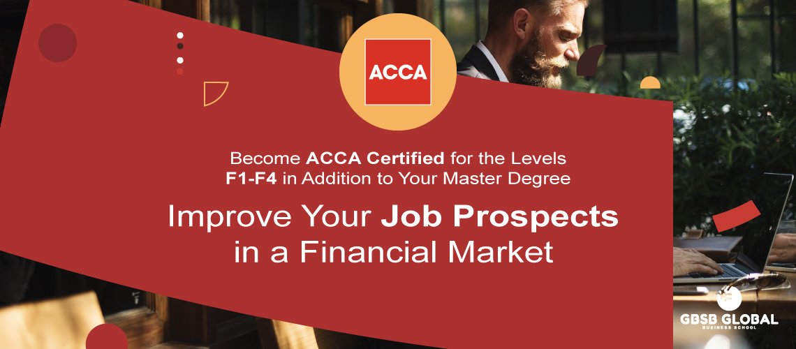 ACCA Certified levels F1-F4 with your master in finance and work at top financial companies