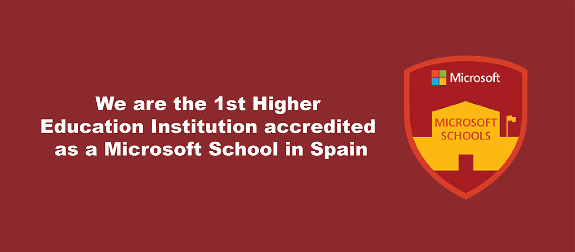 Global Business School the First Higher Education Microsoft School in Spain