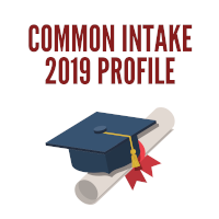 Common Intake 2019 student profile