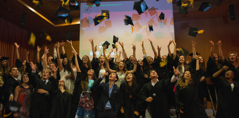 GBSB Global students are excited to celebrate their graduation at Hotel Diagonal Zero on June 2017
