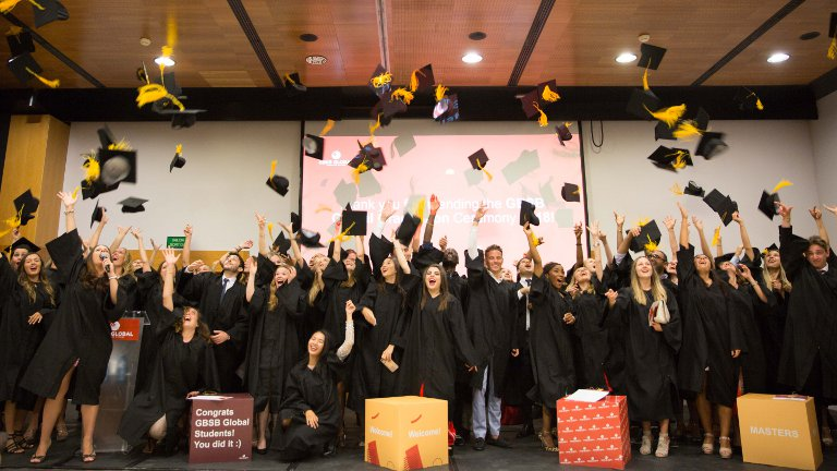 GBSB Global Business School graduation ceremony on 2018 June 28th in Barcelona