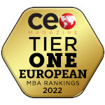 Ranked as Tier One in the Global MBA Rankings in CEO Magazine
