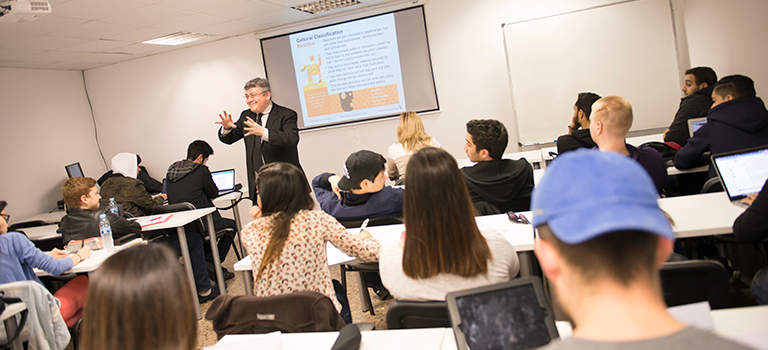 master in International Business management classroom at gbsb global