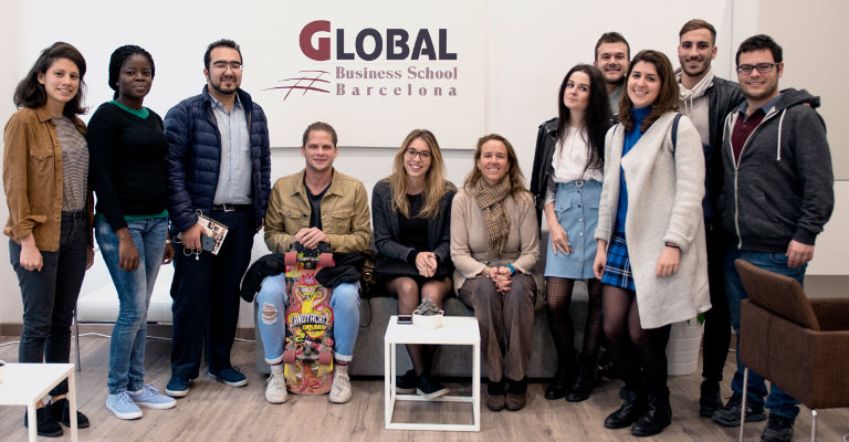 On February 28, 2017 Pili Malagarriga Vallet from JOBarcelona visited GBSB Global Business School Barcelona to present a general information meeting to the students about the annual upcoming event scheduled for mid-March