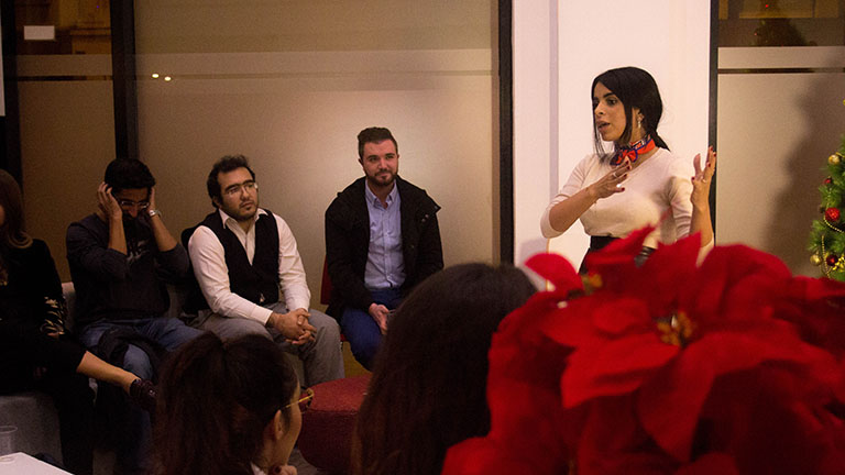 Dana Esam Saleh Aljohar, MA in Fashion & Luxury Business student from Kuwait discussed the role of fashion in the GCC (Gulf Cooperation Council) countries