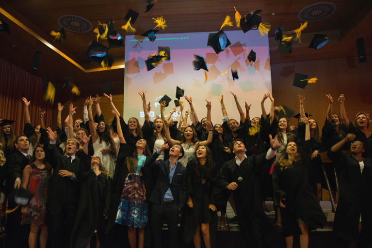 GBSB Global Business School Barcelona graduation announcement on June 2017