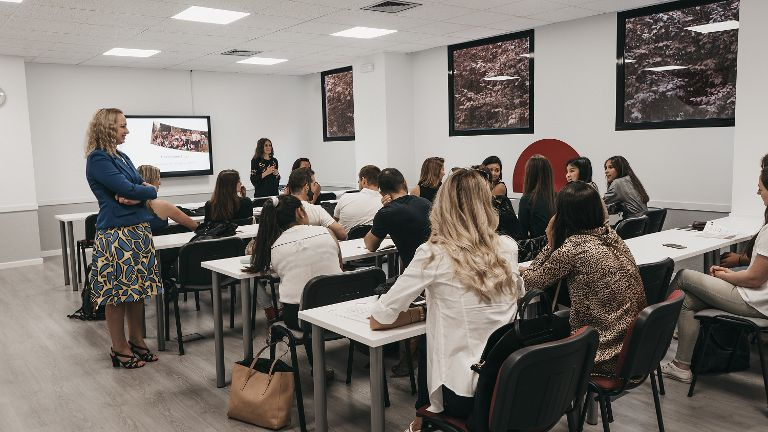 GBSB Global Orientation day in Madrid Classrooms