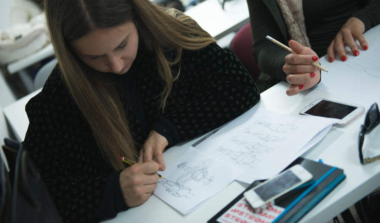 Fashion business students have a good time learning what the life of a designer could be like