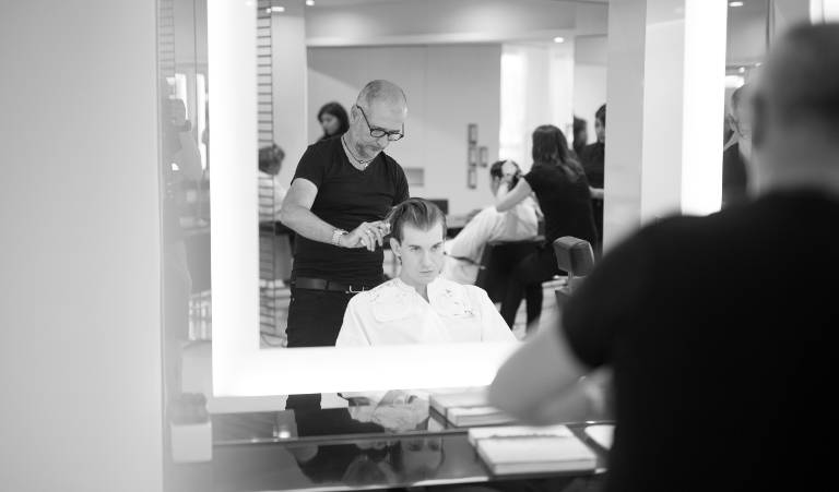 Philippe Venoux's expert hands have manicured the hair of esteemed clients and rock stars