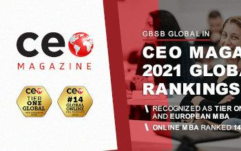 GBSB Global Business School ranked by CEO Magazine in 2021