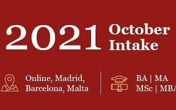 GBSB Global Business School October 2021 Intake